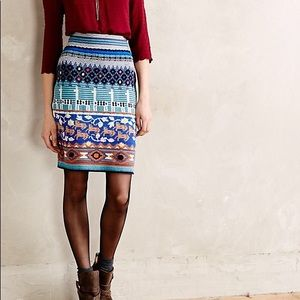 Anthropologie Llama Wool Sweater Skirt - Small